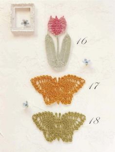 Delicadezas en crochet Gabriela: Varios modelos y diseños con mariposas