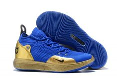 bc1b0e4c6ac 2018 New Nike Zoom KD 11 Royal Blue Metallic Gold-1 Metallic Gold