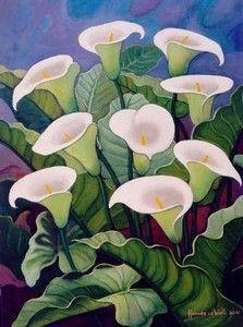 Hannes van der Walt - Arum Lilies 2 | Contemporary Art Fine Art