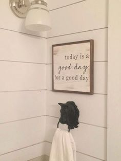 A personal favorite from my Etsy shop https://www.etsy.com/listing/477567757/good-day-1x1-sign-distressed-wooden-sign