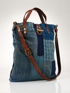 Polo Ralph Lauren Patchwork Crossbody Bag - x x My Bags, Purses And Bags, Jeans Recycling, Diy Sac, Denim Crafts, Crossbody Bag, Tote Bag, Boho Bags, Recycled Denim