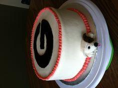 Georgia bulldogs cake with fondant dog