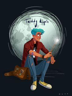Teddy Lupin from Harry Potter! by Noor Sofi Instagram: noor_sofi_art