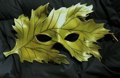 Masks Pagan Wicca Witch: Woodland Leaf Greenman #mask.
