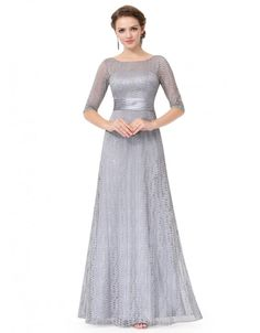 Long Sleeve Lace Formal Mother of the Bride Dress