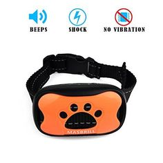 No Bark Collar Dog Training Collar, Nylon Dog Collar, 7 Levels Adjustable Sensitivity, Extremely Effective Vibration (Shock) Beep Humane Dog Bark Control Collar For 20-150 lbs (Style 2, Shock) ** For more information, visit image link. (This is an affiliate link and I receive a commission for the sales) #Doggies