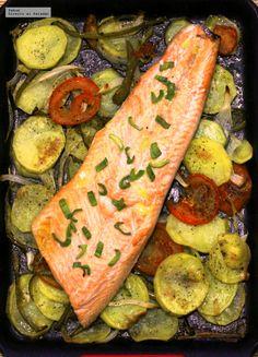 Cocina – Recetas y Consejos Salmon Recipes, Fish Recipes, Seafood Recipes, Cooking Recipes, Healthy Recipes, Fish Dishes, Seafood Dishes, Vegetarian Recepies, Spanish Dishes