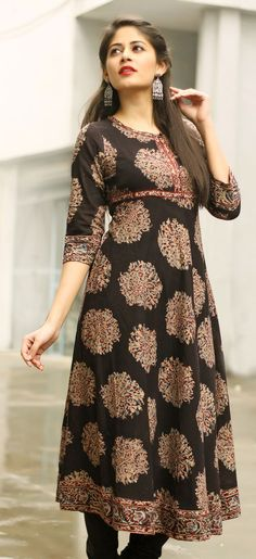 effortless style with this #black #printed #kurta: