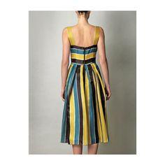 Dolce Gabbana Organza Stripe Sun Dress ❤ liked on Polyvore
