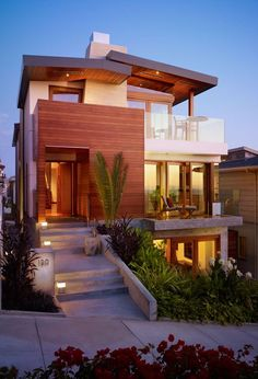 Malibu Beach Home Decorating Modern Architecture Design - Home Gallery Design - (Fachada Compacta - opção quartos)
