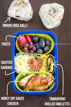 1263 best bento school lunch images on pinterest japanese honey soy sauce chicken bento forumfinder Gallery