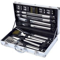 Kacebela BBQ Tools Set, 19-Piece Grill Tools set, Heavy Duty Stainless Steel Barbecue Grilling Utensils, Premium Grilling Accessories for Barbecue - Spatula, Tongs, Fork, and Basting Brush         * To view further for this item, visit the image link. (This is an affiliate link) #HomeKitchen