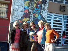 Mural escuela secundaria de Monte Rincon. Taller de mosaico. Villa Gesell