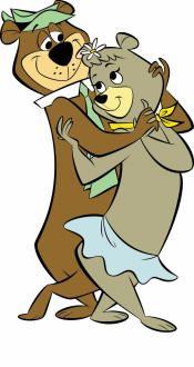 Grab yo Partnu, Now Dosey Doe, And Promenade. Yogi Bear and Cindy Bear