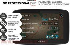"""Profesionálne navigačné zariadenie určené pre veľké vozidlá.Služba TomTom Traffic prostredníctvom smartfónuDoživotná službu TomTom Traffic a Rýchlostné radaryBody záujmu určené pre nákladné vozidlá a autobusyAktualizácia prostredníctvom Wi-Fi®Trasy pre nákladné vozidlá, autobusy, dodávky a automobilySprávy zo smartphonuUpozornenie na stojace dopravuPlánovanie trasy v službe MyDriveDoživotná mapyobrazovkaVeľkosť displeja: 5 """"(13 cm) dotyková obrazovkaRozlíšenie obrazovky: WVGARozlíšenie o... Wi Fi, Sims, Smartphone, Van, Mantle, Vans, The Sims, Vans Outfit"""