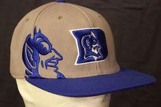 Duke Blue Devils Fitted Hat Baseball Cap Embroidered Grey Flexible Fit #TopoftheWorld #Baseball