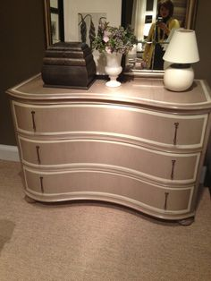 """High Point Market Spring 2012-Stunning new Serpentine Chest with Banded detailing from Hickory Chair...This makes my """"favorites"""" like from this season for sure!"""