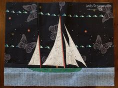 Sail Boat - paper pieced pattern