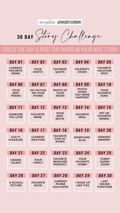 30 Day Instagram Challenge, Music Challenge, 30 Day Song Challenge, Writing Challenge, Instagram Music, Instagram Frame, Instagram Story Questions, Instagram Story Ideas, Instagram Story Template