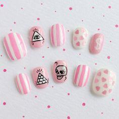 Lovely Skeleton Bones Nail Tips Japanese kawaii nail by MiCHiMALL, $18.00