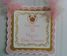 Minnie Mouse Pink and gold Birthday or baby shower Door Sign banner Minnie Mouse Baby Shower Disney banner Mickey Mouse 1st Birthday, Minnie Mouse Baby Shower, Minnie Mouse Theme, Pink And Gold Birthday Party, Birthday Party Hats, Birthday Celebration, 1st Birthday Decorations, Birthday Centerpieces, Baby Shower Invitations