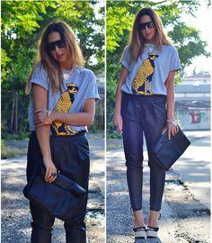 Leopard Print Short Sleeve Cotton T-shirt OASAP.com