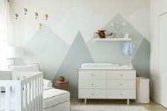 We're announcing our predictions for the top 12 nursery trends for and we're sharing inspiration of how to use them in your own baby room. Kids Bedroom Paint, Kids Bedroom Sets, Baby Bedroom, Baby Boy Rooms, Baby Room Decor, Bedroom Wall, Baby Room Design, Nursery Design, Outdoor Nursery