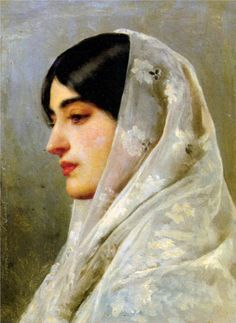 The Athenaeum -  A Young Beauty Eugene de Blaas - 1882 Painting - oil on panel