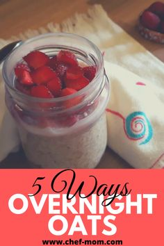 overnight Oats (1) Clean Eating Recipes For Dinner, Healthy Eating Recipes, Healthy Food, Breakfast Options, Breakfast Recipes, Clean Eating For Beginners, Dinner On A Budget, Mouth Watering Food, Fast Dinners