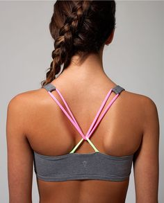 twist with ease in this looped, criss–cross back straps sports bra. | Freedom Sports Bra