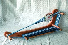 The Mandolin - Card Tablet Large Sized Weaving Loom Made of Durable Hardwood Makes 7 Foot Long Band Lap Tabletop With Shuttle
