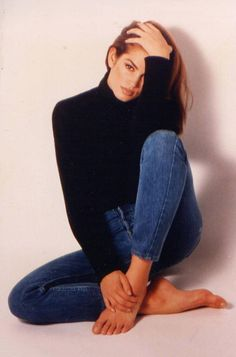 Defining Denim: An Ode to The Comforting Classic  | Vintage denim icons, Cindy Crawford