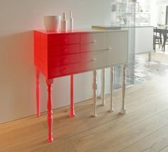 painting furniture bright colors, storage furniture, modern chests with classic legs