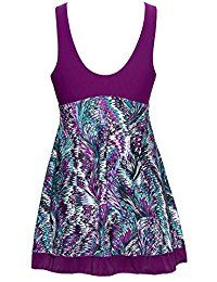 35891c969c2 Women's Clothing, Swimsuits & Cover Ups, Racing, Women's Slimming Modest  Vintage Peacock One Piece Swimwear - Purple -