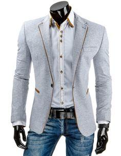Pánské stylové sako - Telmond, šedé Suit Jacket, Blazer, Suits, Jeans, Jackets, Fashion, Down Jackets, Moda, Fashion Styles