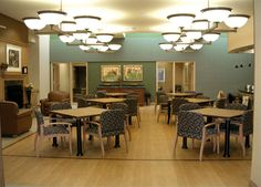 Clearly illuminated and arranged furniture is integral for dementia suffers.