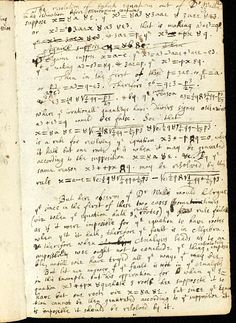 The college notebook - used by Newton between 1664 and 1665 - contains notes from his reading on mathematics and geometry, showing particularly the influence of John Wallis and René Descartes Albert Einstein Pictures, Einstein Quotes, Theoretical Physics, Physics And Mathematics, Isaac Newton, Famous Letters, Handwriting Samples, College Notebook, Star Chart
