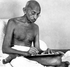 Mohandas Karamchand Gandhi, the Indian nationalist leader whose philosophy of nonviolence influenced movements around the world.     #gandhi #oldphoto #historicalphoto #historicalpics #oldimage #retro #vintage
