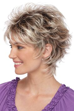 Just take a look at those soft curls and texturized layers. This is the perfect everyday style. Features include super thin and resilient dual elastic sides and an all open-stretch cap construction. Short Shag Hairstyles, Short Layered Haircuts, Short Hairstyles For Women, Hairstyles With Bangs, Braided Hairstyles, Cool Hairstyles, Black Hairstyles, Ladies Hairstyles, Hairstyle Names
