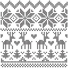 I think I'm in love with this design from the Silhouette Design Store! Fair Isle Knitting Patterns, Knitting Charts, Weaving Patterns, Knitting Stitches, Embroidery Stitches, Embroidery Patterns, Crochet Patterns, Christmas Embroidery, Christmas Knitting