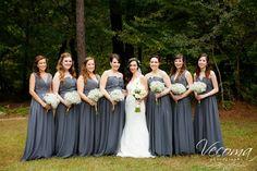 Victoria's stunning girls in their alternating smokey gray gowns!