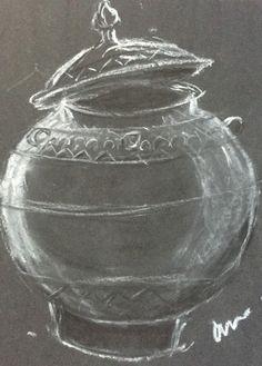 Chalk on paper. Charcoal, Pencil, Pastel, Asian, Cake, Crayon Art, Melting Crayons