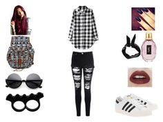 """blackandwhiteforschool"" by amamisonodolce on Polyvore"