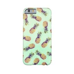 Mint green tropical pineapple fashion pattern Barely There Iphone 6... (295 DKK) ❤ liked on Polyvore