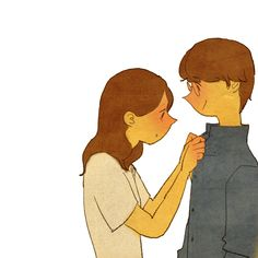 """♥   PROPER ~ """"Let me fix your collar.""""    ♥  by Puuung at www.facebook.com/puuung1 ♥"""