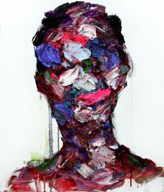 In Korean painter KwangHo Shin's mural-scale portraits, smeared and scratched colors communicate emotions similarly to a furrowed brow or creased smile line. Shin obliterates the recognizable… Inspiration Art, Art Inspo, Ernesto Artillo, Art Plastique, Painting & Drawing, Design Art, Cool Art, Saatchi Art, Art Drawings