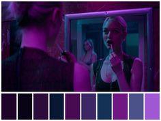 """""""The Neon Demon Dir. Neon Colour Palette, Movie Color Palette, Neon Colors, The Neon Demon, Cinema Colours, Color In Film, Por Tras Das Cameras, Neon Noir, Color Script"""