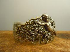 Steampunk Jewelry Bracelet Cherub