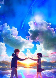 Your Name Wallpaper, Anime Wallpaper Live, Wallpaper Animes, Anime Scenery Wallpaper, Animes Wallpapers, 4k Wallpaper Iphone, Galaxy Wallpaper, Art Anime Fille, Anime Art Girl