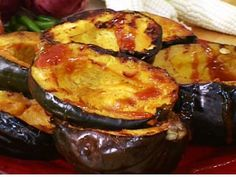 Get Orange-Glazed Grilled Acorn Squash Recipe from Food Network